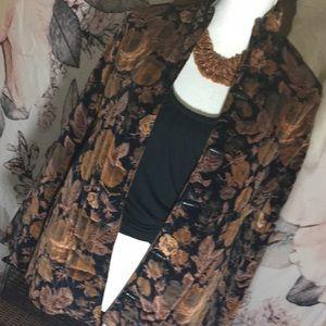 Vintage Black Roses Jacket